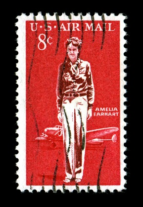 Amelia Earhart Commemorative Stamp issued 1963